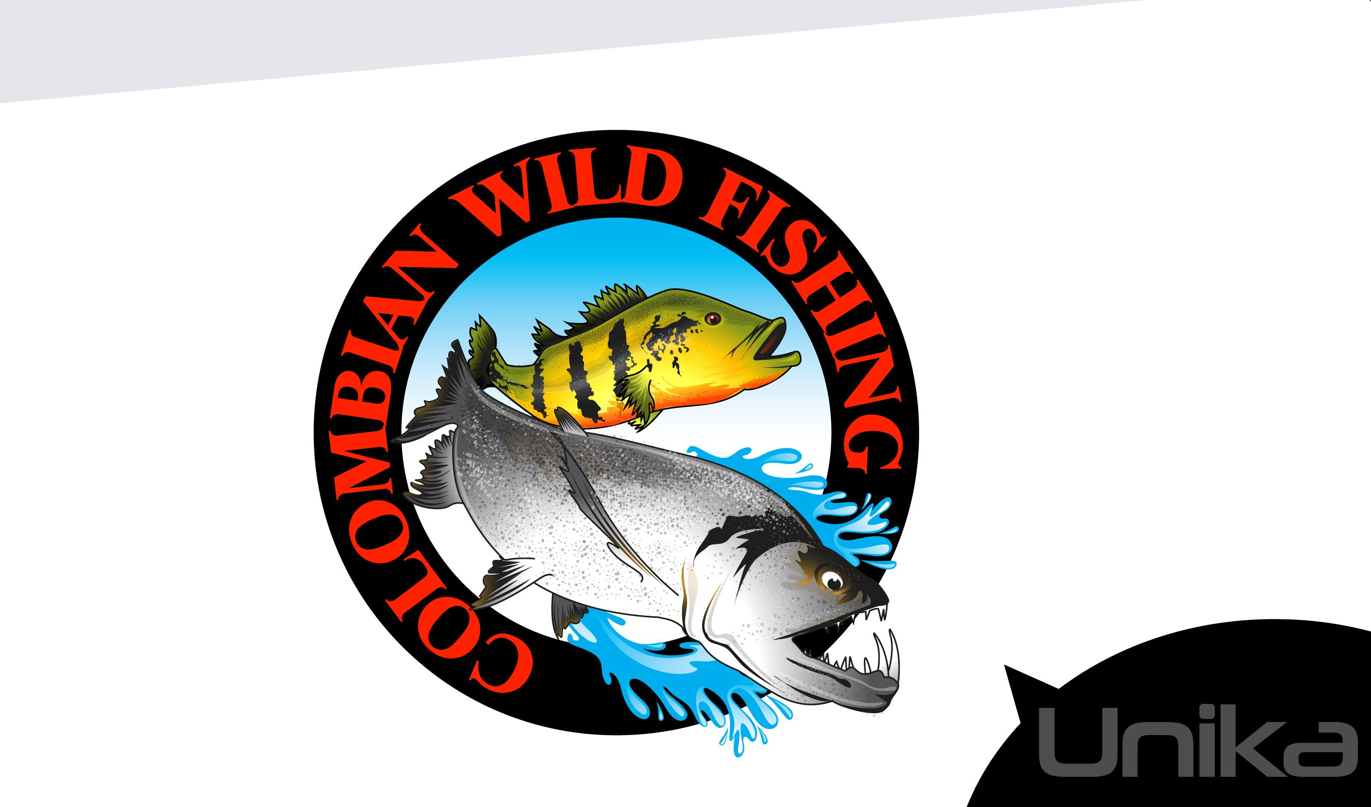 Mascot Logo Colombian Wild Fishing