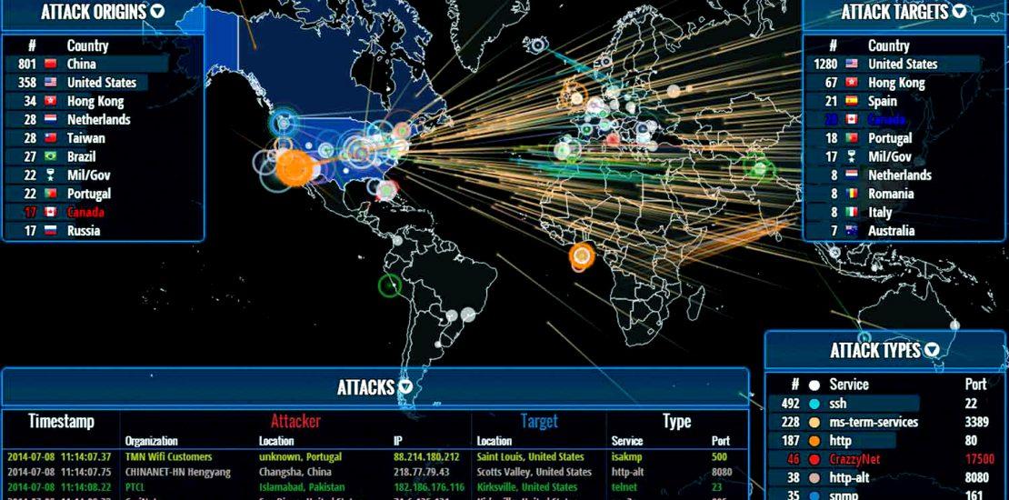 Unika Infocom Cyber Threat map