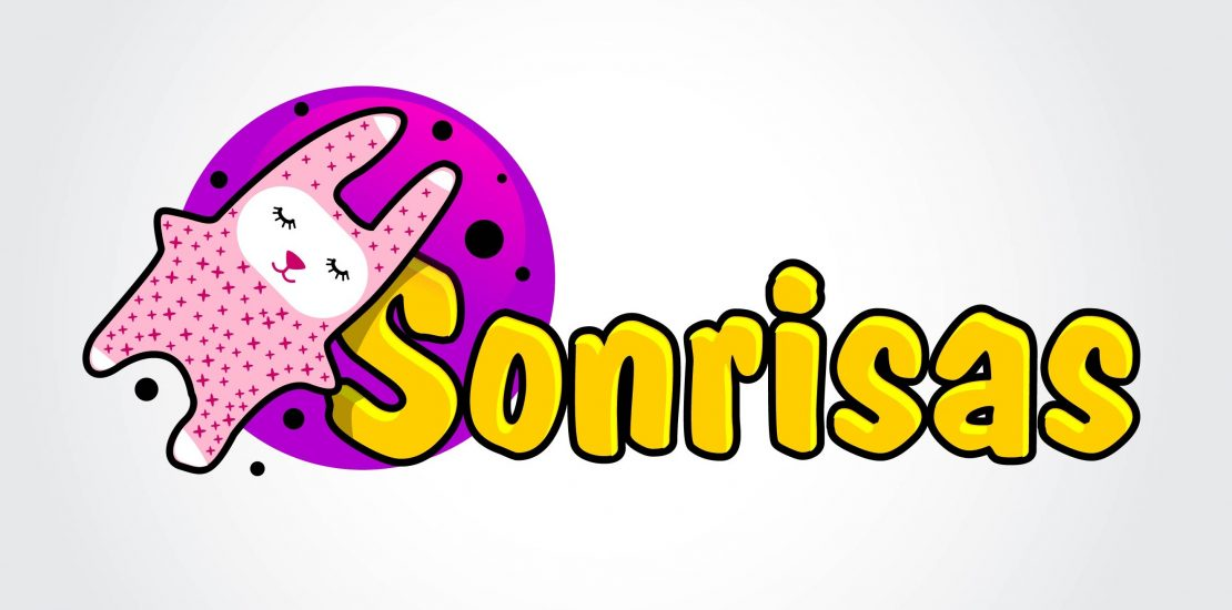 Sonrisas logo design