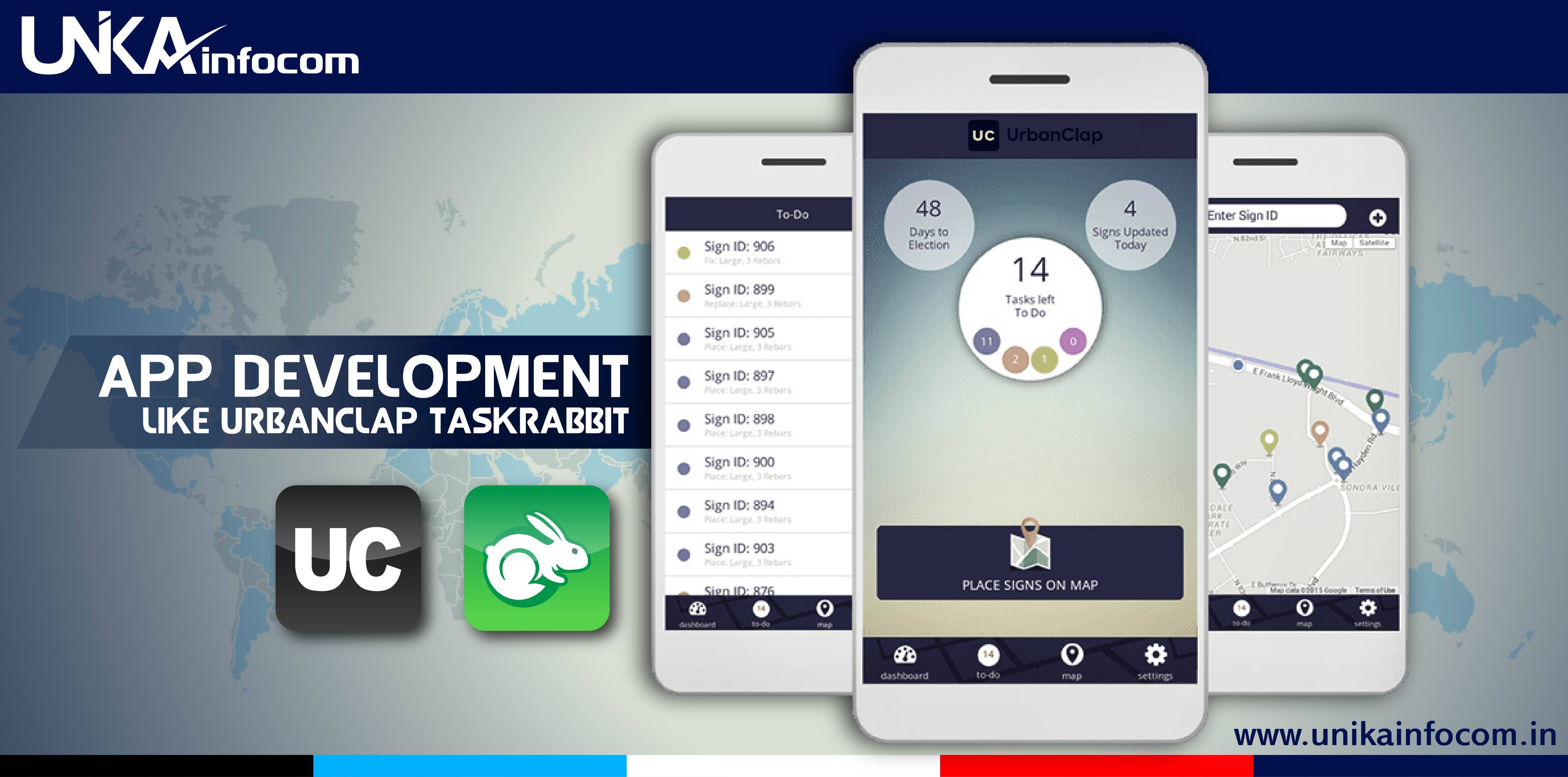 App development like UrbanClap TaskRabbit