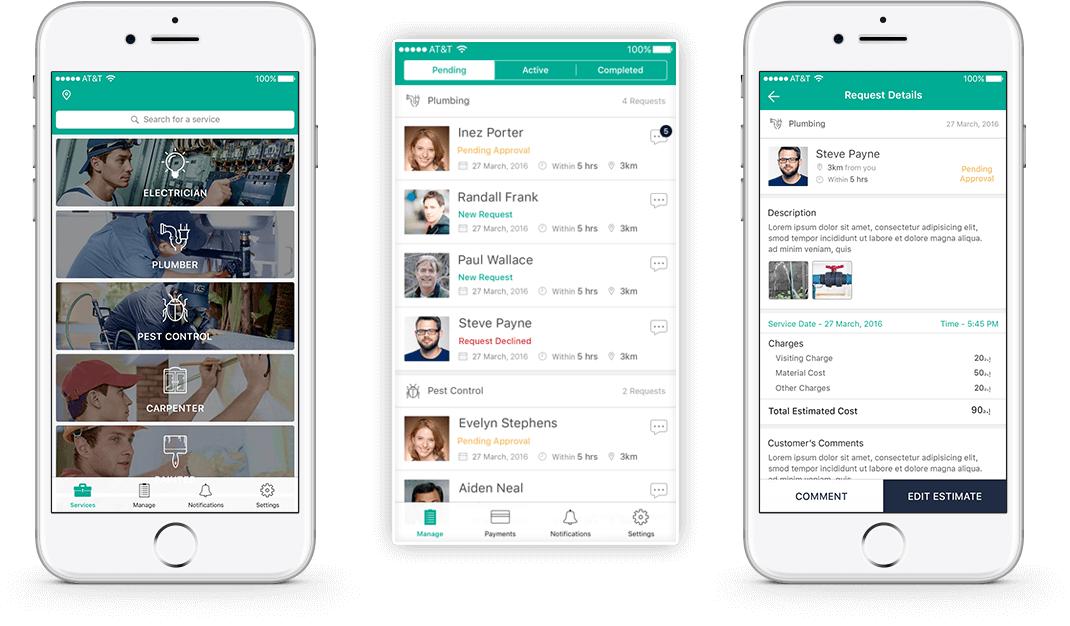 Service marketplace app development