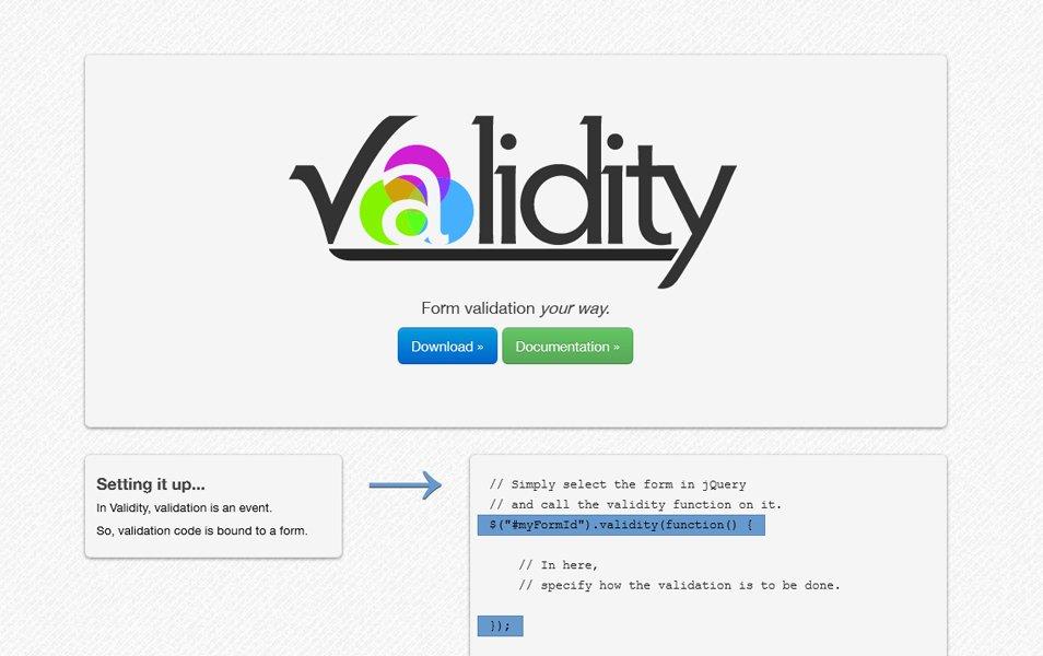 jQuery.validity