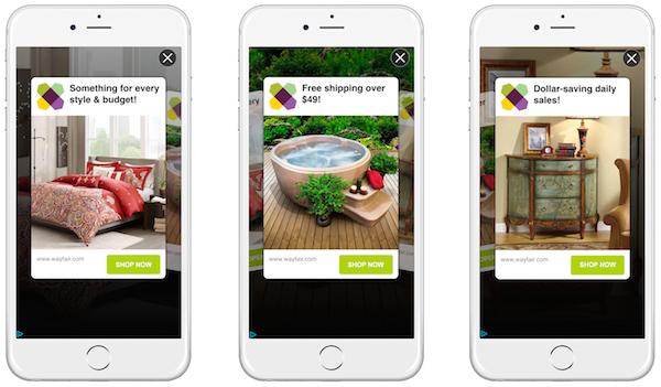 In-app mobile ads