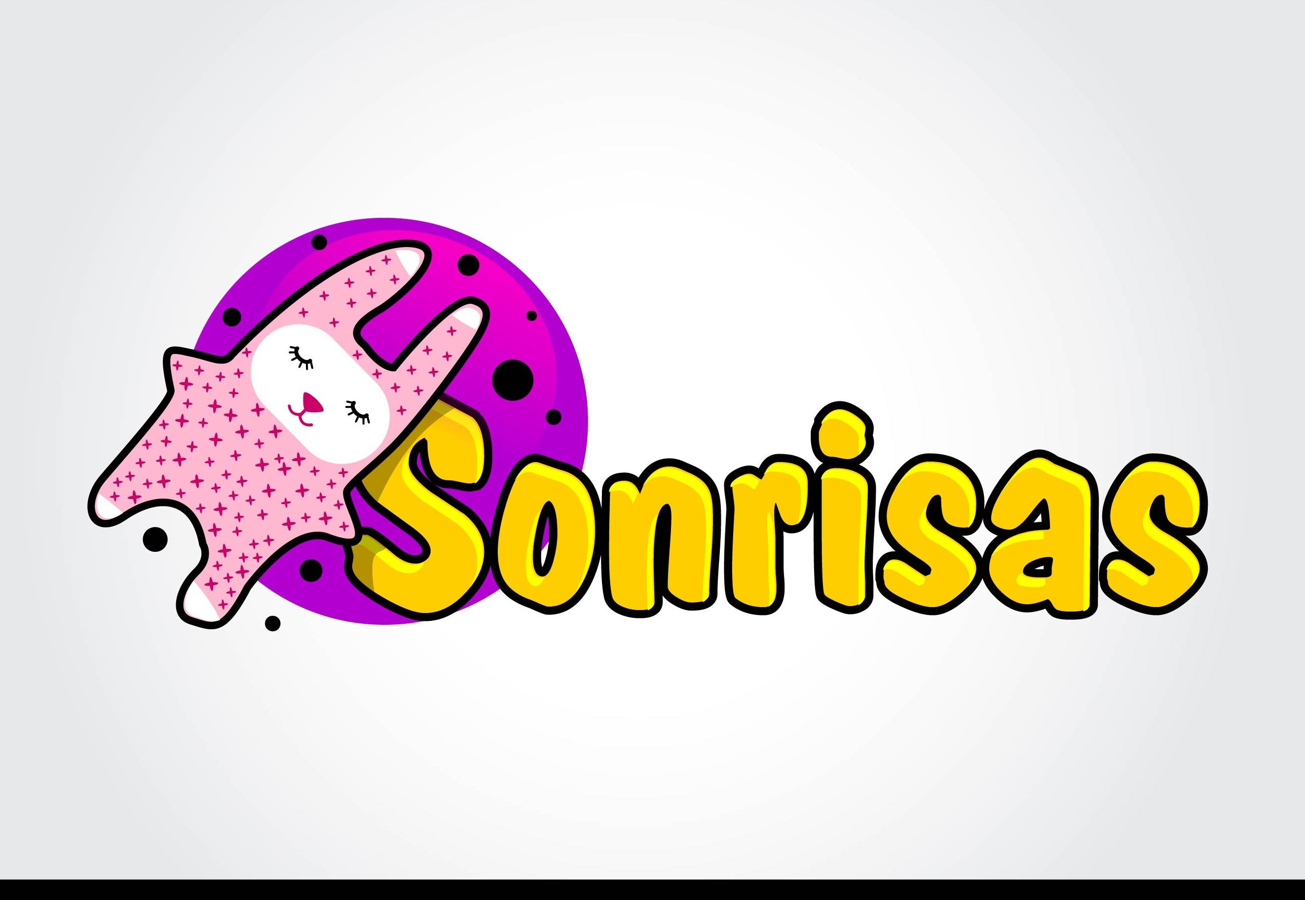 Sonrisas logo design