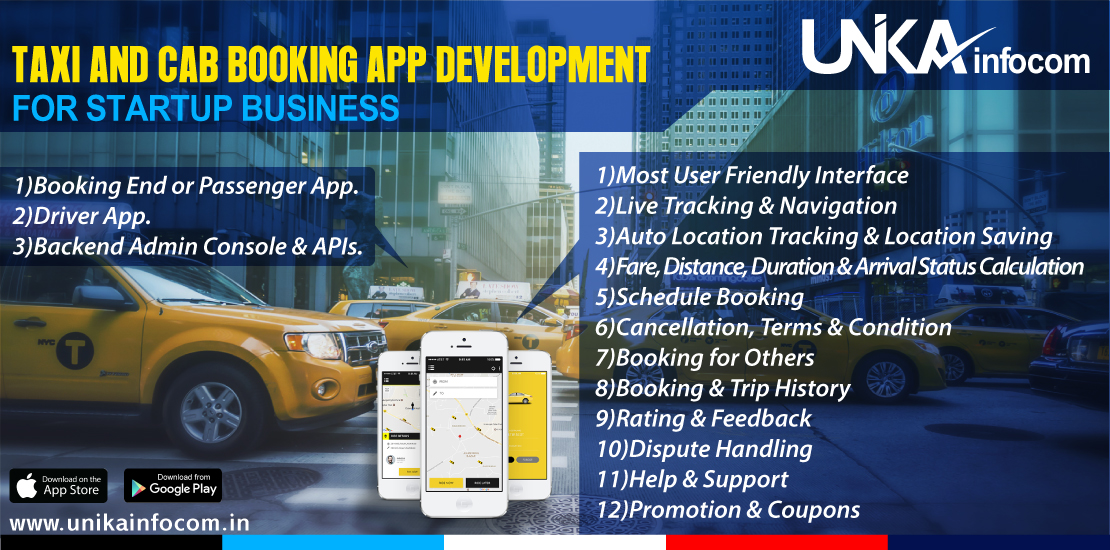 Taxi Booking App Development Like Uber Ola - Cab Booking App
